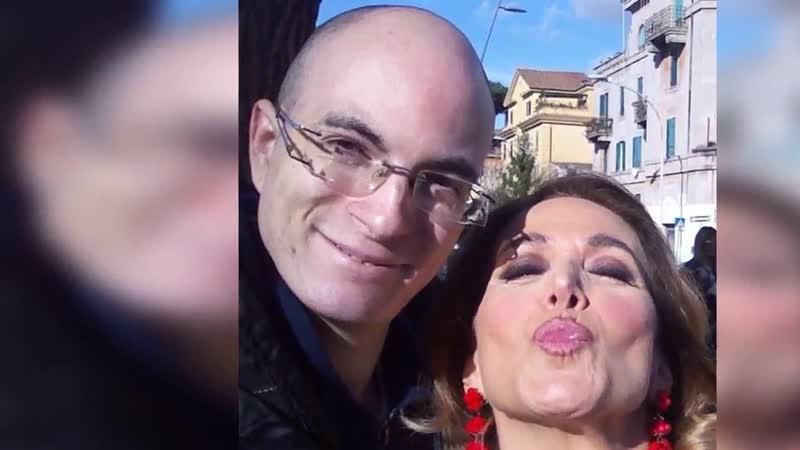 Io Leandro con Barbara D'Urso