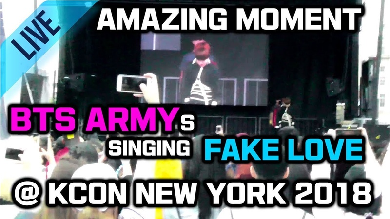 BTS ARMYs Sang Fake Love after Music Stops @KCON NY supporting a Cover Dance Team 관객 떼창 Fan Chant