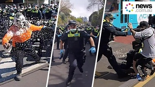 Inside the protest battle in Melbourne