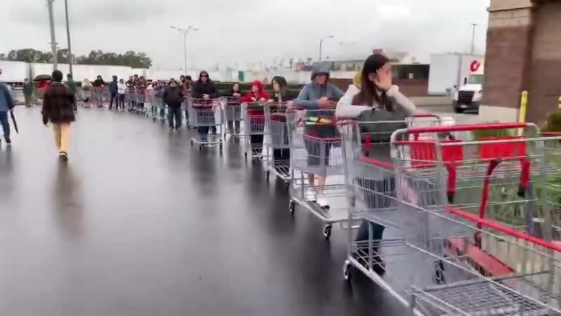 Коронавирус США Супермаркет