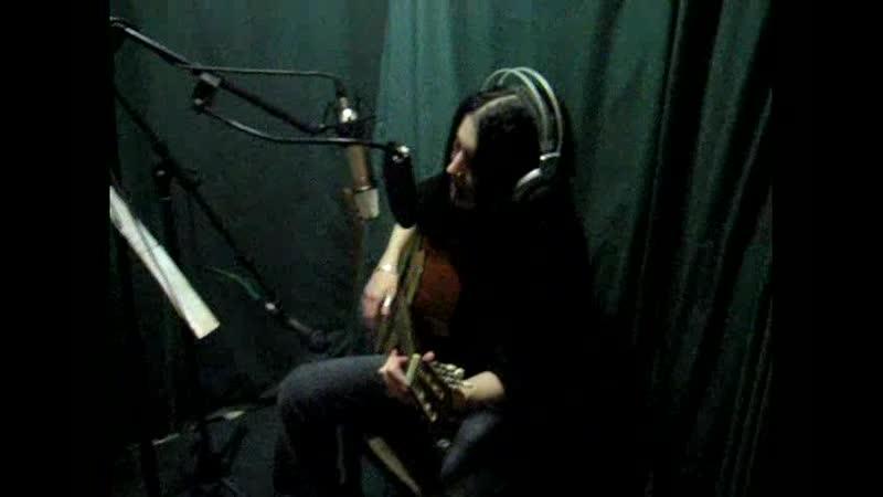 Кристина Прилепина в студии Радиал рекордс 2006 год