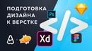 Как подготовить дизайн для верстки Adobe XD Figma Sketch Photoshop Zeplin Avocode
