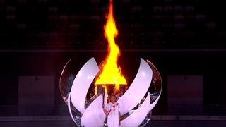 Как зажигают олимпийский огонь на церемонии открытия Олимпиады-2020 в Токио: Наоми Осака
