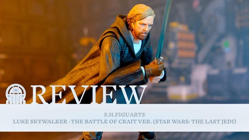 Luke Skywalker Battle of Crait The Last Jedi Star Wars Action Figure Review