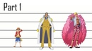 One Piece Charaters Size Comparison Part 1 Official information only