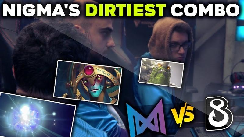 NIGMA'S DIRTIEST COMBO vs NEW DENDI TEAM B8 WePlay Mad Moon Dota 2