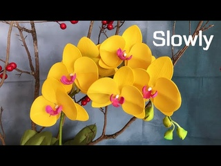 ABC TV | How To Make Phalaenopsis Orchid Flower From EVA Foam (Slowly) - Craft Tutorial